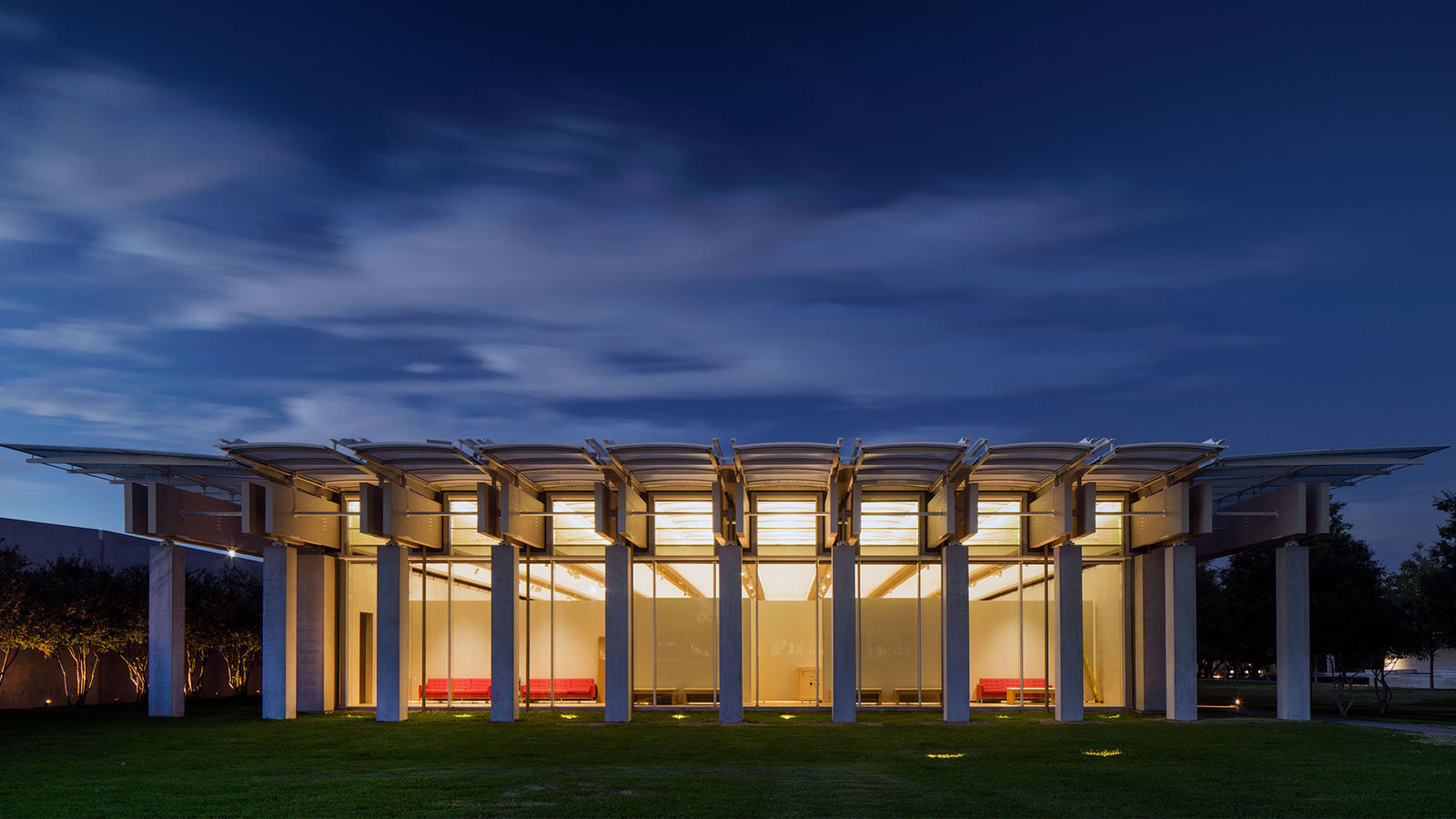 Piano Pavilion, south facade, photo by Nic Lehoux