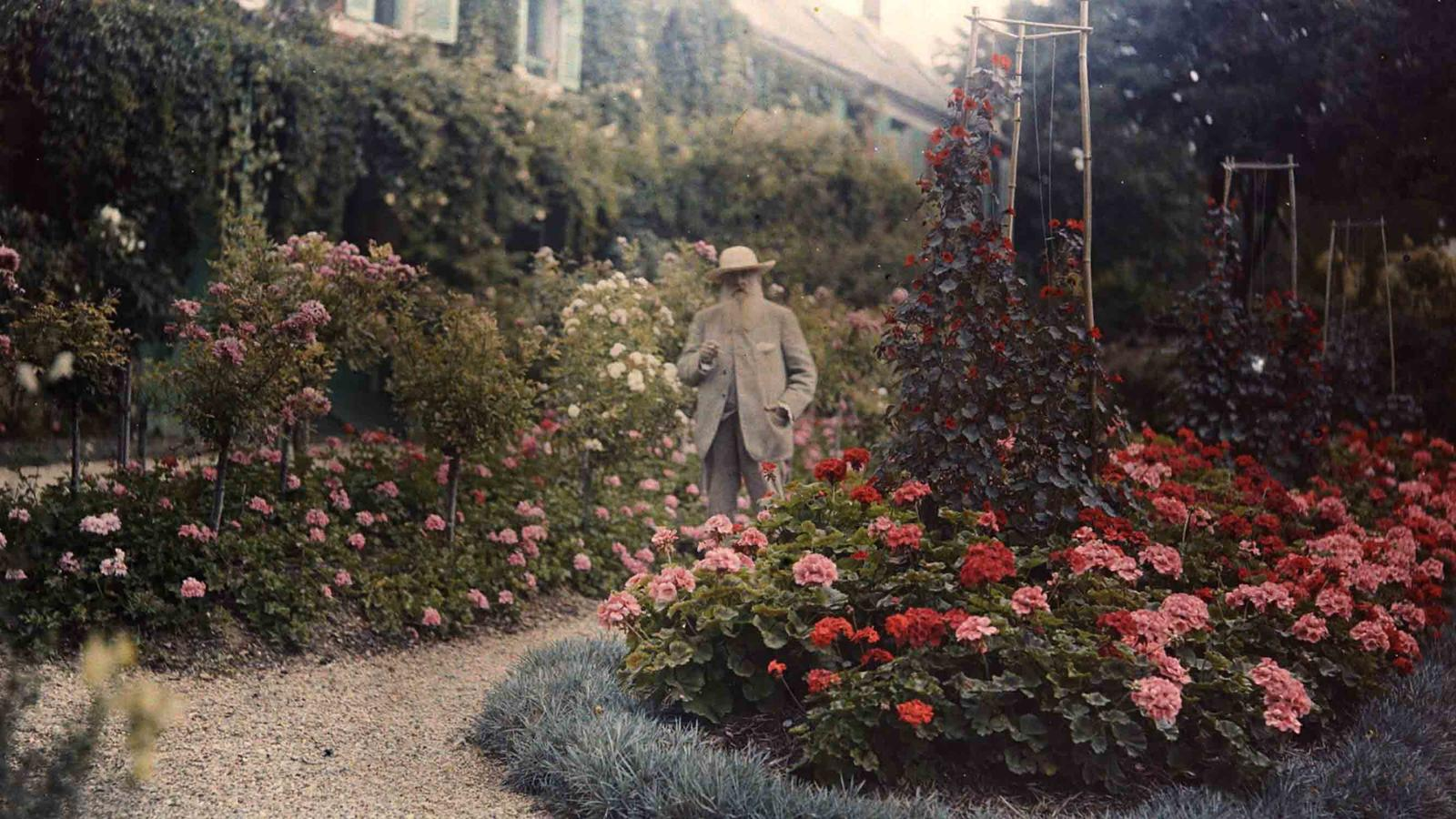 """Monet in His Garden at Giverny"""