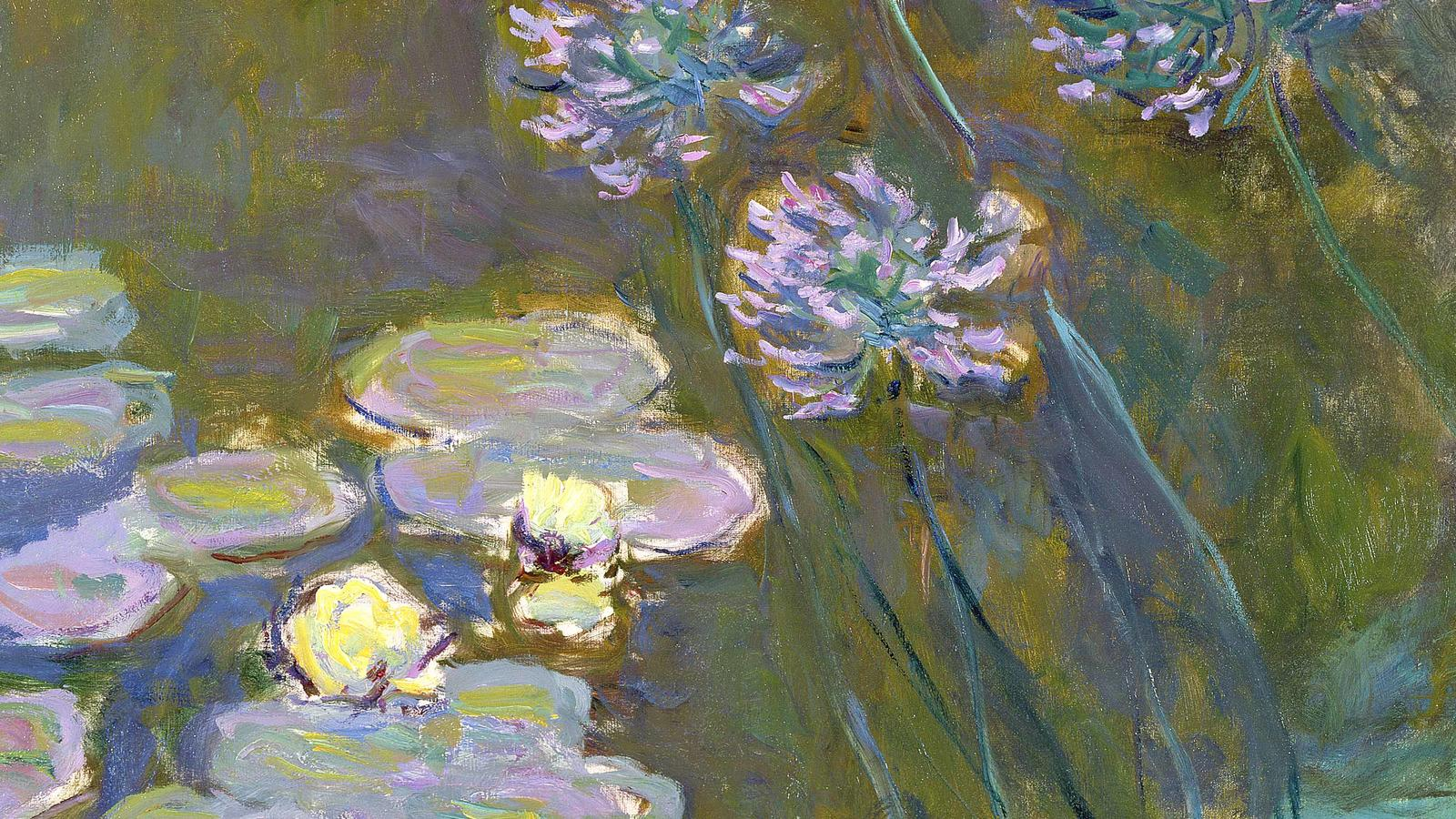 "Monet, ""Water Lilies and Agapanthus"""