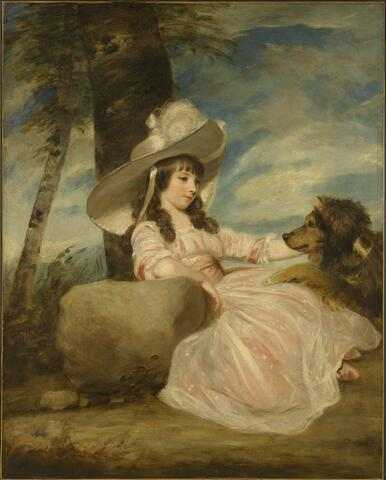 Portrait of Miss Anna Ward with Her Dog