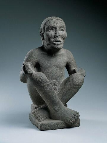 Seated Man, Possibly Huehueteotl