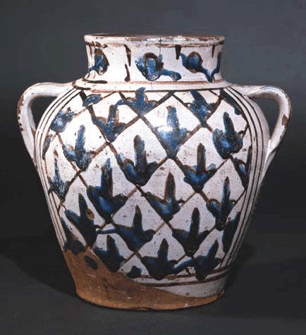Apothecary Jar with Oak Leaf and Lily Motifs