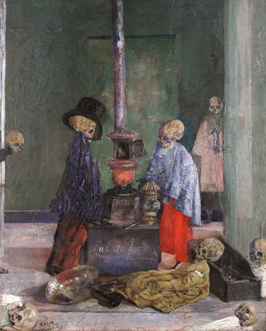 Skeletons Warming Themselves