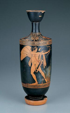 Red-Figure Lekythos Showing Eros in the Role of Archer