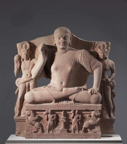 Seated Buddha with Two Attendants