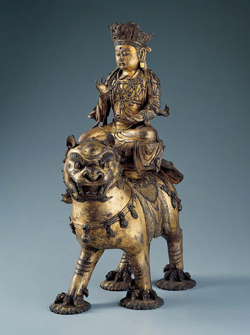 Manjushri on a Lion