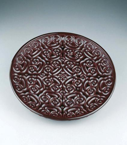 Round Dish with Pommel Scrolls
