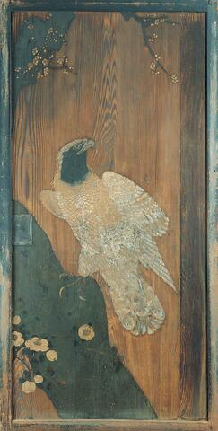 Sliding Door Panel with Design of Imperial Eagle, Plum Tree, and Camellia