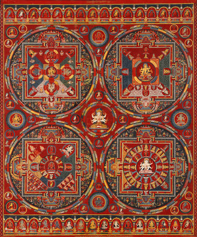 Four Mandalas of the Vajravali Series