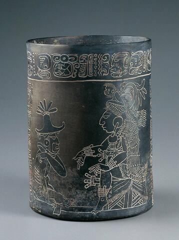 Vessel with an Enthroned Lord and Seated Figure