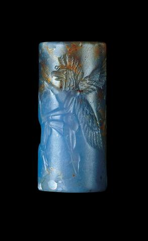 Cylinder Seal with Griffin, Bull and Lion and Inscription