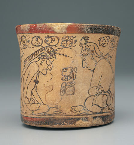 Codex-Style Vessel with Two Scenes of Itzam Instructing Young Pupils