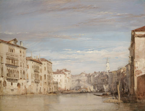 The Grand Canal, Venice, Looking Toward the Rialto
