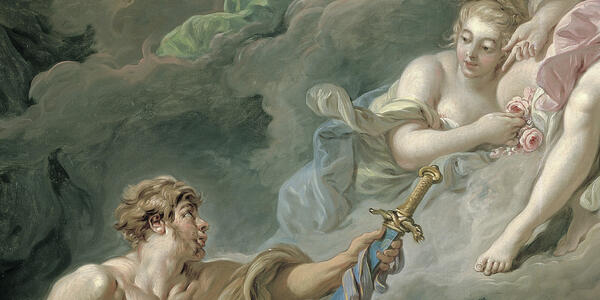 Boucher, Venus at Vulcan's Forge (detail)