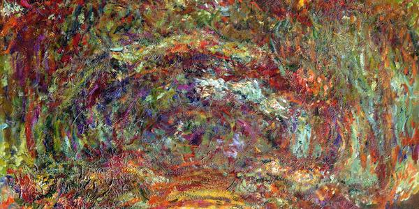 "Monet, ""Path under the Rose Arches"""