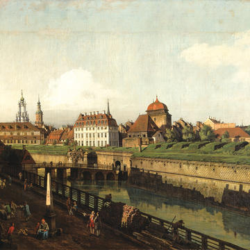 "Bernardo Bellotto ""The Former Fortresses in Dresden,"" 1749/50 Oil on canvas"