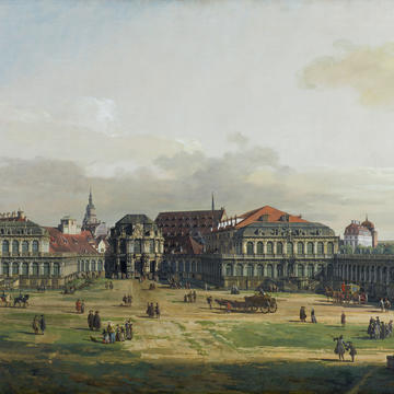 "Bernardo Bellotto ""The Zwinger Complex in Dresden,"" 1751–52 Oil on canvas"