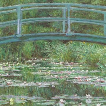 "Monet, ""Water Lily Pond (Japanese Bridge)"""