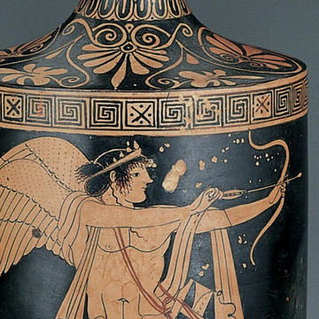 Header: Red-Figure Lekythos Showing Eros in the Role of Archer