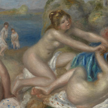 "Header: Renoir, ""Bathers Playing with a Crab"""