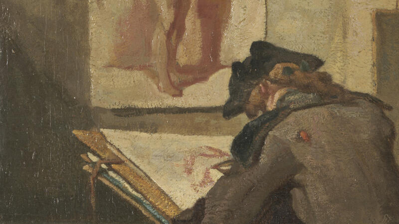 Chardin, Young Student Drawing (detail)