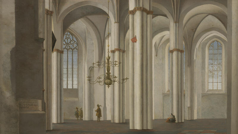 Saenredam, Interior of the Buurkerk, Utrecht