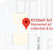 A screenshot of a map of the Kimbell Art Museum